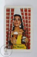 San Miguel Spanish Beer Advertising Pocket Calendar 1968 Spain  - Edited: Heraclio Fournier Vitoria, Spain - Tamaño Pequeño : 1941-60