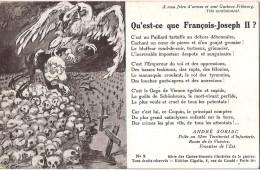 CARTE SONNET DE ANDRE SORIAC DU 52 EME D´INFANTERIE QU´EST CE QUE FRANCOIS JOSEPH II - Patriotiques