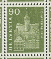 1530 - Baudenkmäler Grosse DOPPELPRÄGUNG Der 90 Rp. Munot Im Bogen