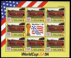 St Vincent 1994 Kleinbogen/Minisheet Football/Soccer World Cop USA SPECIMEN Mnh South Korea. - World Cup