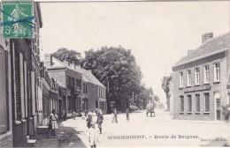 WORMHOUDT - Route De Bergues - Café Français - Animé - Wormhout