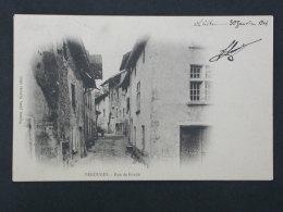 Ref5311 NIK CPA De Pérouges - Rue De Ronde - 1904 - Vialatte Photo. Oyonnax - Pérouges
