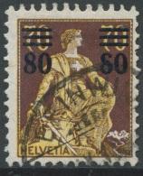 1531 -  Helvetia Mit Schwert Mit ABART Offene 8 Von 80, Sauber Gestempelt Mit Befund - Variétés