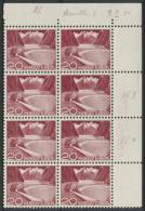 1532 -   20 Rp. Grimsel Mit 2 Doppelprägungen Im Postfrischen 8er Block