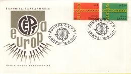Griekenland - FDC 18-5-1971 - Europa/CEPT - M 1074-1075 - 1971