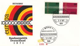 Duitsland - FDC 3-5-1971 - Europa/CEPT - M 675-676 - 1971