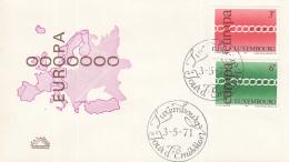 Luxemburg - FDC 3-5-1971 - Europa/CEPT - M 824-825 - 1971