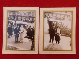 AUTOMOBILE VOITURE ANCIENNE MARIAGE MODE  PHOTO 13 X 10 - Automobili