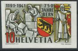1534 - 750 Jahre Bern ABART Ungezähnt ** Aus Dem PTT-Geschenkheft - Variétés