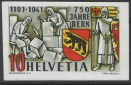 1534 - 750 Jahre Bern ABART Ungezähnt ** Aus Dem PTT-Geschenkheft