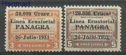 Ecuador 1951 Mi 754-755 MNH - Palaces - Schlösser U. Burgen