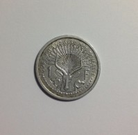 1 Franc Cotes Françaises De Somalis 1959 Aluminium  SUP - Colonies
