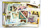 Lot 100 Timbres Thème Papillons - Timbres