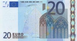 Billet 20 Euros 2002 Signature Wim Duisenberg TRÈS RARE DANS CET ÉTAT - EURO