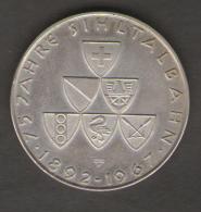 SVIZZERA MEDAL 75 Jahre Sihltalbahn 1892 - 1967 Zürich AG SILVER - Gettoni E Medaglie