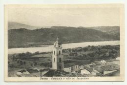 SENISE CAMPANILE E VALLE DEL SEROPOTAMO 1948 VIAGGIATA  FP - Potenza
