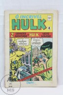 Portuguese Edition Comic 1983 Marvel Hulk - O Incrivel Hulk Nº 4 - Edited By Distri - Libros, Revistas, Cómics