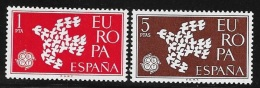 N° 1044 ET 1045  EUROPA  ESPAGNE  1961  NEUF - Belgium