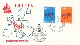 San Marino - FDC 27-4-1972 - Europa/CEPT - M 997-998 - 1972