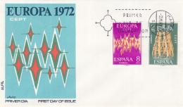 Spanje - FDC 2-5-1972 - Europa/CEPT - M 1985-1986 - 1972