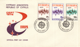 Cyprus - FDC 22-5-1972 - Europa/CEPT - M 374-376 - 1972