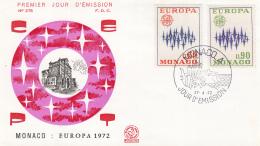 Monaco - FDC 27-4-1972 - Europa/CEPT - M 1038-1039 - 1972