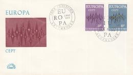 Luxemburg - FDC 2-5-1972 - Europa/CEPT - M 846-847 - 1972