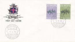IJsland - FDC 2-5-1972 - Europa/CEPT - M 461-462 - 1972