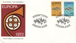 Griekenland - FDC 2-5-1972 - Europa/CEPT - M 1106-1107 - 1972