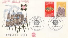 Frankrijk - FDC 22-4-1972 - Europa/CEPT - M 1788-1789 - 1972