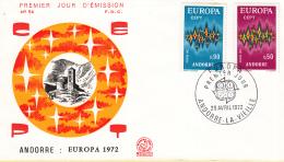 Andorra (Frans) - FDC 29-4-1972 - Europa/CEPT - M 238-239 - 1972