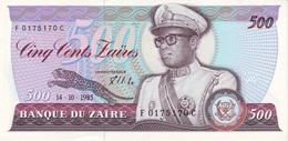 ZAIRE 500 ZAIRES 1985 P-30b UNC [ ZR115b ] - Zaire