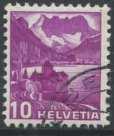 1537 - 10 Rp. Chillon ABART Doppelprägung Mit Eckstempel - Variétés