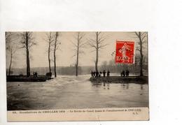 INONDATION DE CHELLES 1910 LA BRECHE DU CANAL - Floods