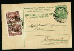 A4056) Yugoslavia Karte Vom 28.12.23 Nach Donauwörth - 1919-1929 Königreich Der Serben, Kroaten & Slowenen
