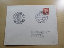 Cover Kuvert Denmark Danmark Aarhus Postkontor Udstilling 1 Dag 1653-1953 To Sweden Sverige Schweden 1953 - Postzegels