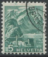 1538 - 5 Rp. Pilatus ABART Grosse Doppelprägung Mit Eckstempel - Variétés