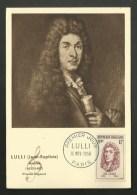 N° 1083 - Musicien JEAN BAPTISTE LULLI / PARIS 1956 - Maximum Cards