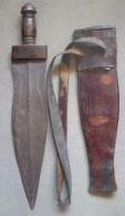ANCIEN EPEE GLAIVE COUTEAU BAOULE ETUI  AFRIQUE  WEAPON ARMS AFRKA - Armas Blancas