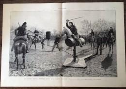 DOCUMENT ANNEES 1900 LE NOUVEAU CHEVAL D ESCRIME ARMEE FRANCAISE 3° DRAGON A NANTES DE LOUIS SABATTIER - Vieux Papiers
