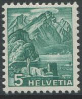 1539 - 5 Rp. Pilatus ABART Grosse Doppelprägung Postfrisch - Abarten