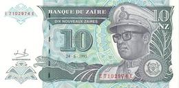 ZAIRE 10 NOUVEAUX ZAIRES 1993 P-55  [ ZR137b ] - Zaire