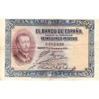 ESBYMA6301-LFTBBI358.BILLETES DE ESPAÑA. 25 PESETAS SIN  Serie 1925. ALFONSO Xlll - 1-2-5-25 Pesetas
