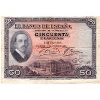ESBYMA6302-LFTBBI361.BILLETES DE ESPAÑA. 50 PESETAS SIN Serie 1925. ALFONSO Xlll - 50 Pesetas