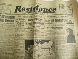 """Journal/""""Résistance""""/La Voix De Paris / Toutes Les Françaises Voteront/20 Sept1944   VJ90 - Army & War"""