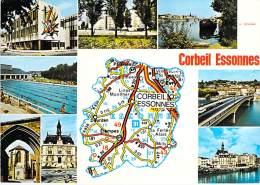 91 - CORBEIL ESSONNES : Petit Lot De 5 CPSM CPM GF (n° 12/14) Diverses Multivues - Essonne - Corbeil Essonnes