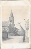 AUFFARGIS  (78) Carte Photo Rue église Bureau De Poste Animation - Auffargis