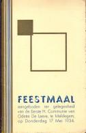 Menu - Feestmaal Communie Odette De Laere - Maldegem 1934 - Menus