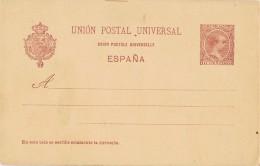 18557. Entero Postal 10 Cts Alfonso XIII, Carmin Sobre Anteado, Num 31 ** - Entiers Postaux