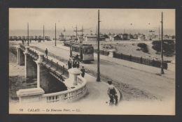 DF / 62 PAS DE CALAIS / CALAIS / LE NOUVEAU PONT / TRAMWAY / ANIMÉE / CIRCULÉE EN 1916 - Calais